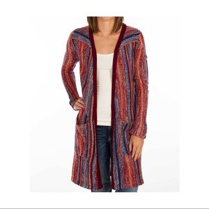 Billabong Striped Duster Cardigan Sweater M